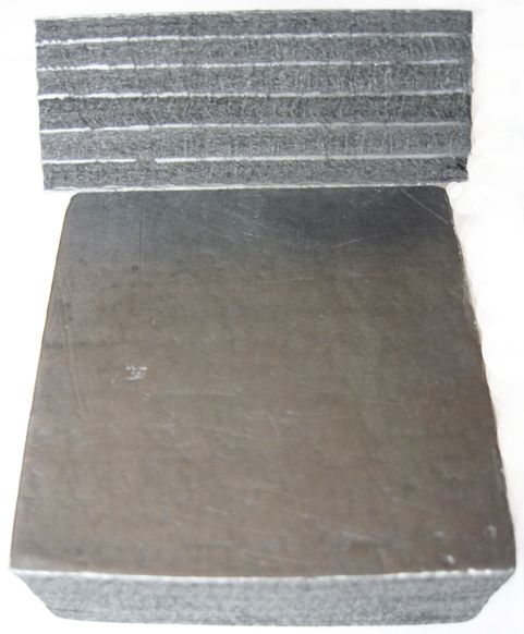 Carbon fibrous foiled heat insulting